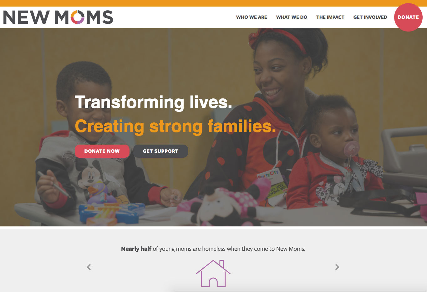 New Moms website screenshot